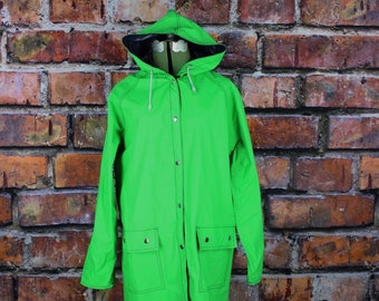 Reversible Green and Blue Vintage Rain Coat