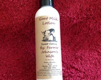 Goat Milk Lotion Sweet Citrus 4 oz