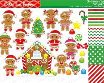 Gingerbread Digital Clipart, Christmas Clipart, Ginger bread Clip art, Christmas Candy House Clip art , Gingerbread House clipart (CG096)