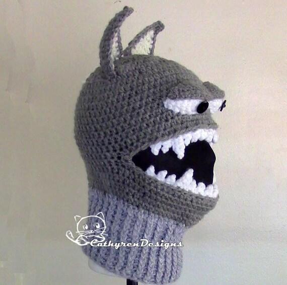 Wolf Ski Mask 5 Sizes Child Adult Instant Download Crochet Pattern