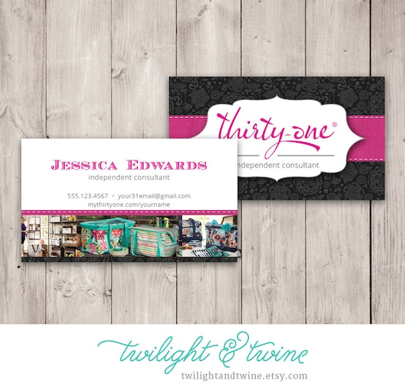 Thirtyone Business Card Template Black Custom PDF