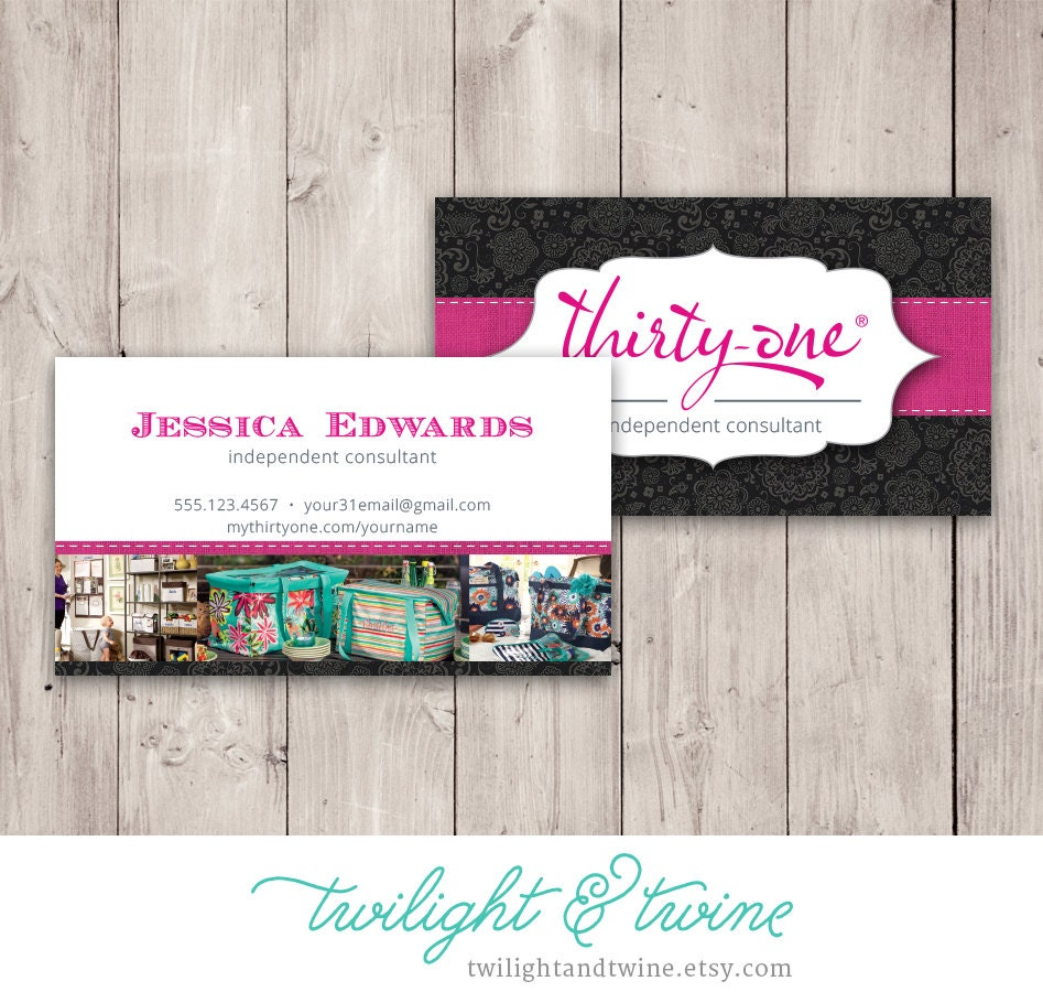 Thirty-one Business Card Template Black Custom PDF