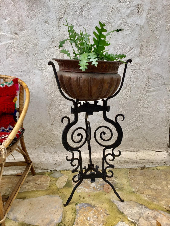 console porte plante trepied support plantes vertes d co fer. Black Bedroom Furniture Sets. Home Design Ideas