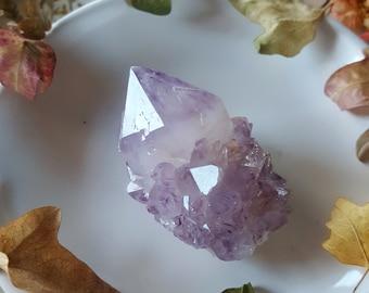 Spirit Quartz - Spirit Quartz Crystal - Lavender Purple Spirit Quartz Cactus Quartz Fairy Quartz Point - Pastel Purple Spirit Quartz Point