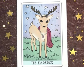 The Emperor Tarot Card Illustration 5x7 Fine Art Print