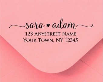 Personalized Self Inking Return Address Stamp - self inking address stamp - Custom Rubber Stamp R323