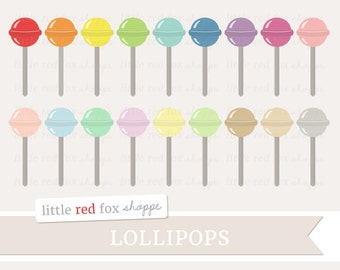 Lollipop Clipart, Candy Clip Art Dessert Sweet Treat Baking Food Snack Sugar Party Cute Digital Graphic Design Small Commercial Use