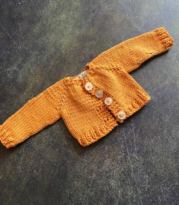 Hand Knit Doll Cardigan for 14 inch Rag Doll