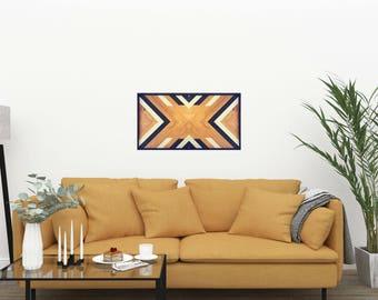 Wooden wall art x geometric wall art x wood wall hanging x reclaimed wood wall art x geometric art x woodwork x wall hanging