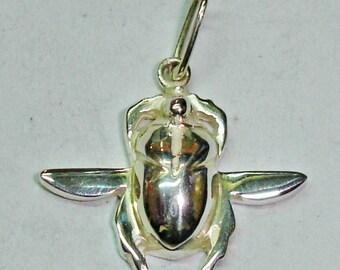 Egyptian silver beetle Pendant, Egypt