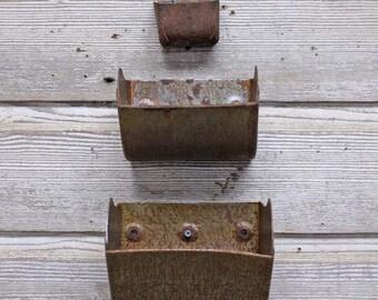 Vintage Industrial Grain Scoop Wall Planter