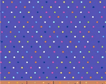Windham Basic Brights - Pin Dot in Blue Multi - Bright Basics Cotton Quilt Fabric Dots - Windham Fabrics - 31639-9 (W4163)