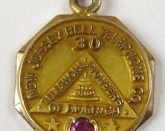 On Sale 10K New Jersey Bell Telephone company Charm