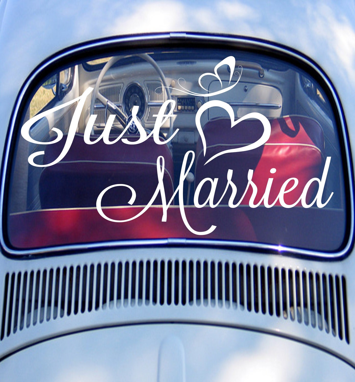 just married car sign just married car decal wedding decor
