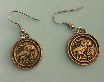 Coin Earrings with Fishhook