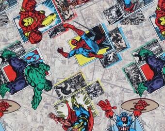 Marvel Fabric -  One Yard - 100% Cotton - Deadpool Captain America Iron Man Thor Hulk Spiderman FREE UK POST