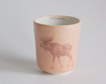 Child's Cup Animal Cup Handmade Ceramic Cup Moose Cup Children's Cup Small Cup Porcelain Cup Children's Tumbler Handmade Pottery Cup