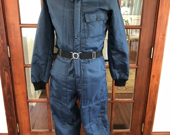 Vintage 1970's Ski Suit Snowmobile Fur Collar Suit