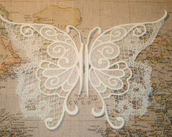 Steampunk/Gothic/Victorian Embroidered Lace Butterfly