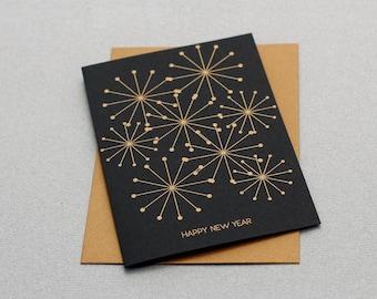 Karte Black & Gold - Happy New Year