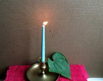 Vintage Swedish Akta Massing Solid Brass Candleholder/Candlestick/Primitive Decor/Minimlaist Decor/Midcentury Modern