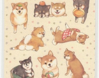 Dog Stickers - Shiba Inu Stickers - Washi Stickers - Japanese Stickers - Reference A5668A5961-62