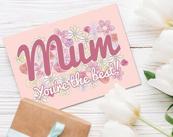 Mother's Day Card with optional matching badge