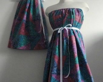 Mommy & Me Clothing. Matching Dresses. Mommy and Me Dresses. Matching Outfits. Mother Daughter Dress. Mothers Day. Retro. 80s 90s