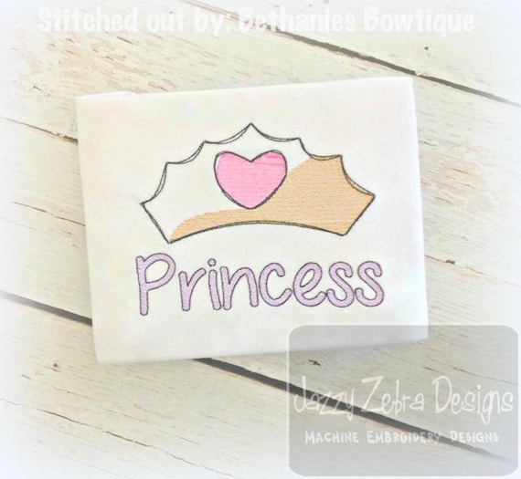 Princess Crown Sketch Embroidery Design - princess Sketch Embroidery Design - crown Sketch Embroidery Design - girl Sketch Embroidery Design