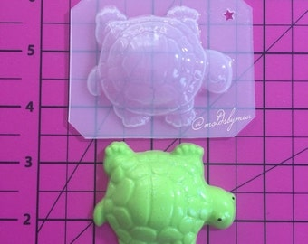 ON SALE Cute turtle flexible plastic resin mold 1 pc