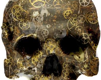 Cog Skull vinyl Sticker