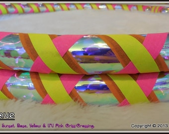 Design Your OwN 'CUSTOM WEAVE' Travel Hula Hoop - Choose All 4 Colors & Size.