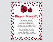 Ladybug Baby Shower Diape...