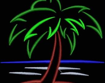 Beer Bottle Cozie or Beer Can Cozie - Palm Tree