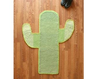 Handmade Cactus Rug  - Ready to Ship