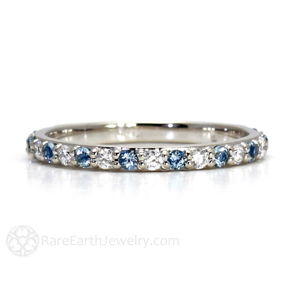 jewelers birthstone and rings march index stackable foster