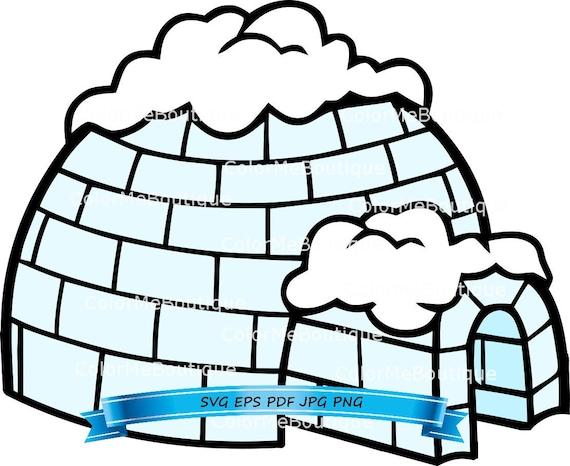 igloo clipart rh etsy com igloo clipart outline igloo clipart free