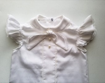 Angel in Lace Cotton Toddler Dress Shirt Handmade by Papoose Clothing
