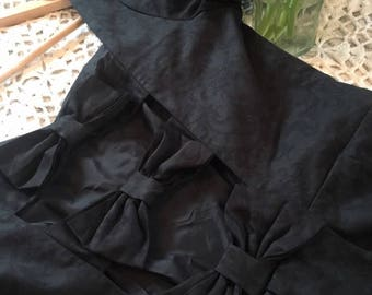 Vintage Laura Ashley Evening Bow Detail Dress ~ Size 12