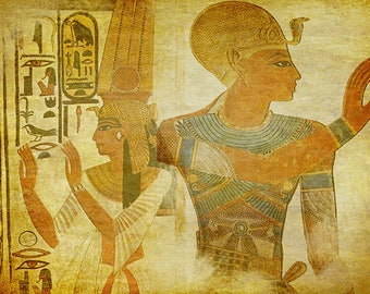 ORIGINAL PLACEMAT - Art of ancient Egypt, ancient Egyptian painting 1.