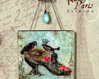 The Royal Nest Glass Wall Hanging  - The Royal Nest Series Wall Pendant - 2 of 4