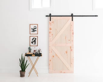 6-Foot 7-Inch Barn Door Hardware (Black) - Includes Easy Step-By-Step Installation Video - Ultra Quiet, Successfully Tested 100,000 Rolls