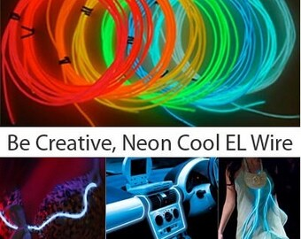 10ft El Wire Sound Activated - 3-mode Neon EL Wire Kits. Up to 3 ...
