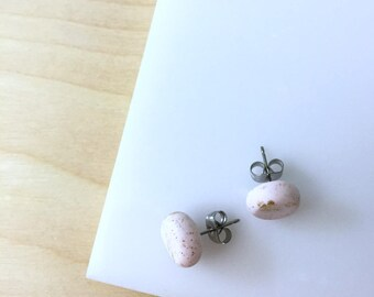 Stud earrings, studs, polymer clay jewelry, post earrings, everyday earrings, pink earrings,small flat studs,teen stud earrings,simple studs