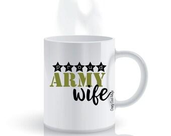 Proud Army Wife Military Coffee Mug