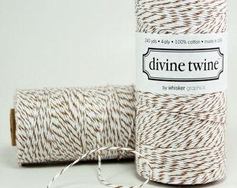 Brown String - Brown Bakers Twine - Brown Cord, 240 yards