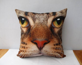 Decorative velvet pillow cushion cover Cat design double sides/home decor /Housewares Animal pillowcase