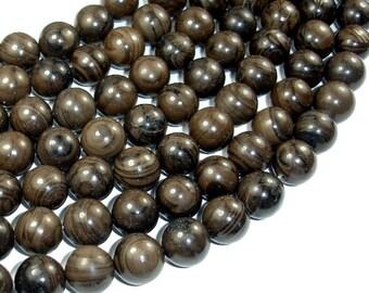 Coffee Jasper Beads, 12mm (12.5 mm) Round Beads, 15 Inch, Full strand, Approx 32 beads, Hole 1.2 mm (227054005)