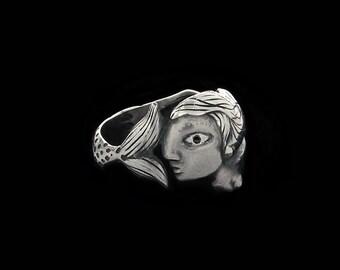 Silver Mermaid ring,
