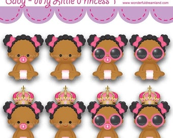 50% OFF Baby Girl Princess Super Star 2 - Instant Download Printable Clipart Clip Art Digital PDF PNG File